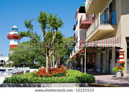 The famous Harbour Town located on Hilton Head Island, South Carolina; USA.
