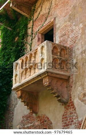 The famous Julia Balcony in Verona Italy - stock photo