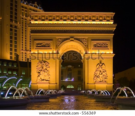 The famous Las Vegas spots for tourists. Arc de Triomphe. (exlusive at shutterstock)