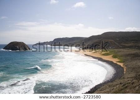 "The famous ""Lion Beach"" in Fernando de Noronha, a paradisiac tropical island off the coast of Brazil."