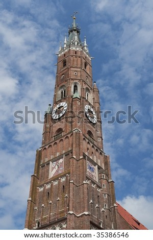 "The famous ""Martinskirche in ""Landshut in Bavaria in Germany"