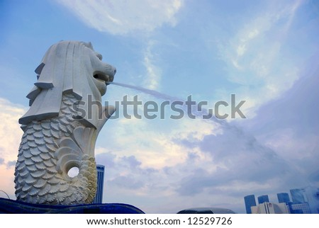 The famous merlion in Singapore
