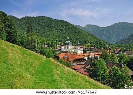 the famous Monastery of Ettal in Bavaria near Oberammergau and Garmisch-Partenkirchen,Germany