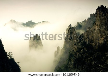 The Famous Mount Huangshan in China