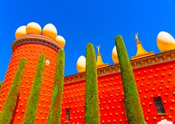 the famous museum - theater of Salvador Dali in figueras town in Spain