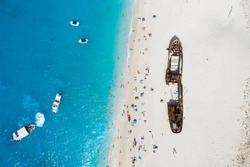 The famous Navagio - shipwreck beach at Zakinthos Greece