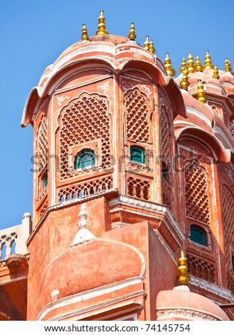 The famous Palace of Winds in Jaipur, India
