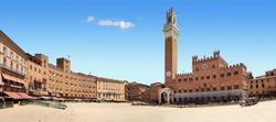 The famous Piazza del Campo of Siena. Tuscany. Italy.