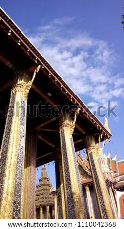 The famous place in Bangkok near Grand palace, Wat Pra Kaew. #1110042368