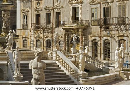 """The famous place """"Pretoria"""" in """"Palermo"""" in Sicily"""