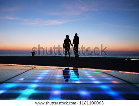 The famous place to see sunset for tourist named Greeting to the sun located in Zadar of Croatia #1161100063