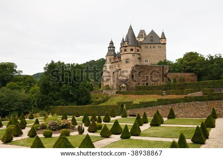 The famous Schloss Buerresheim (Burresheim Castle) is located in the Eifel area in Rhineland-Palatinate, Germany, near the town of St. Johann (Mayen).
