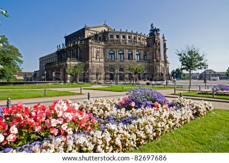 The famous Semperoper in Dresden, Germany