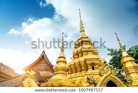 The famous Shwedagon Pagoda in Xishuangbanna, Yunnan, China.