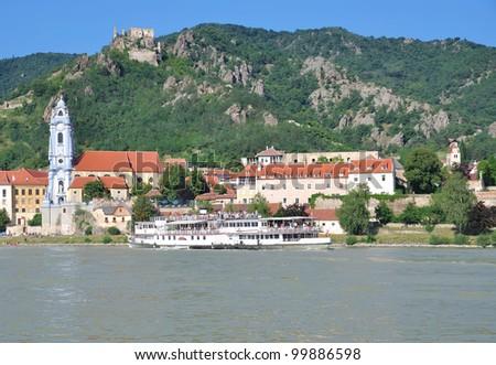 the famous Village of Duernstein in Wachau,Danube Valley,Austria - stock photo