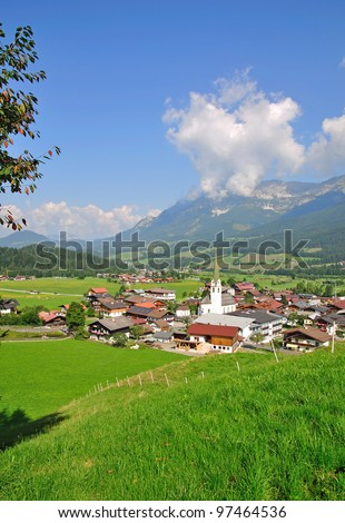 the famous Village of Ellmau am Wilden Kaiser near Kitzbuhel,Tirol,Austria
