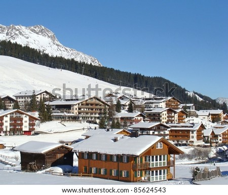 The famous village of Lech in the Austrian alps