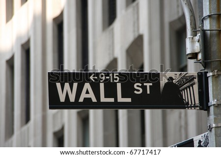 The Famous Wall Street in New York