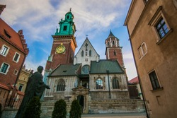 The famous Wawel castle in the historic center of Krakow