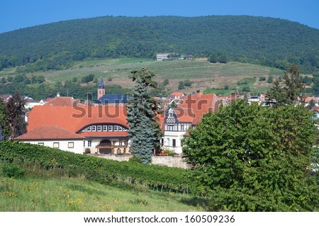 the famous Wine Village of St. Martin at german Wine Route,Rhineland-Palatinate,Germany