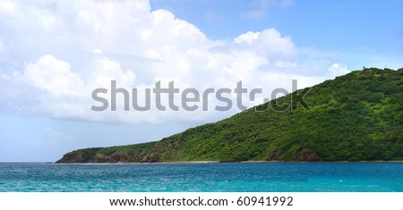 The far eastern shore across from Flamenco beach on the beautiful Puerto Rico island of Culebra.