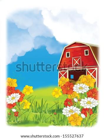 The farm - illustration for the children