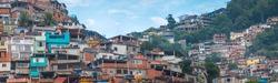 the favelas of Rosinha in Rio de Janeiro. Brazil