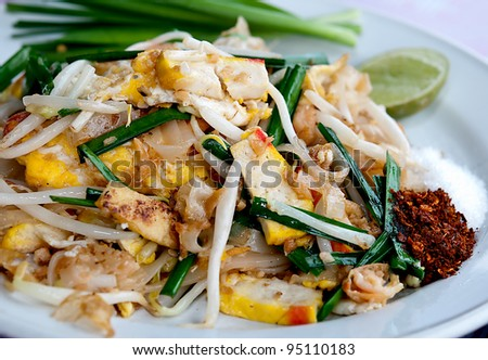 The Favorite stir fried noodle thai style is name Pad Thai