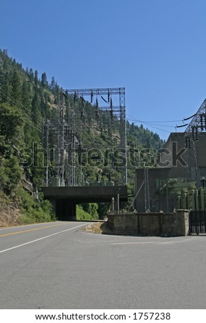 The Feather River Canyon is home to one of the largest hydro-electric systems in California. The Feather River Canyon, located along Highway 70 between Oroville and Quincy in northern California.