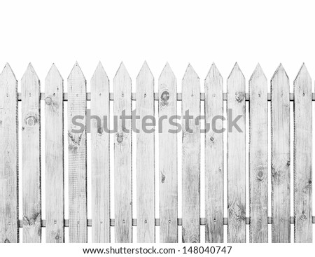 The fence isolated on a white background - Shutterstock ID 148040747