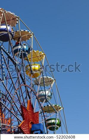 The ferris wheel in the park at Tibidabo, Barcelona.