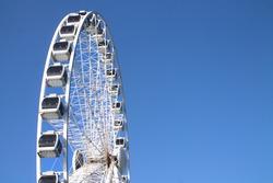 The Ferris wheel of the schevenigen pier