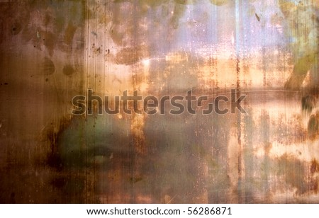 The fhoto of the texture of rusty cupper