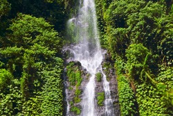 The Fiji waterfall, also called Air Terjun Fiji, which is considered one of the most beautiful waterfalls on the island, Bali, Indonesia, Asia.
