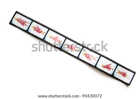 the filmstrip with dancing girl