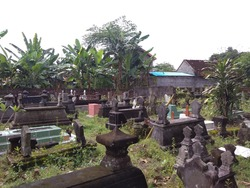 The final resting place in a village