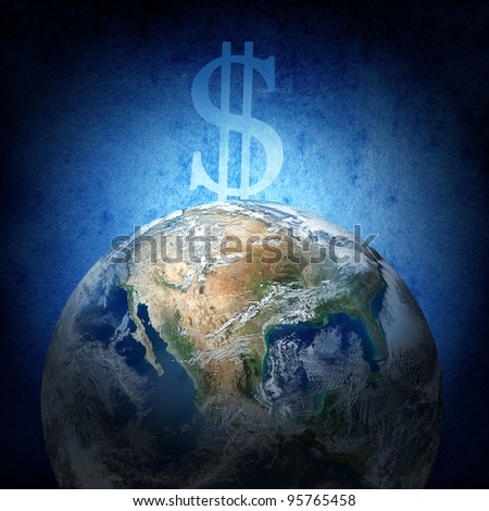 The financial concept (Earth image from www.nasa.gov)