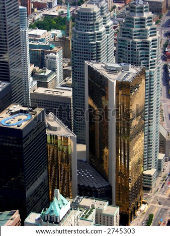 The financial heart of Toronto. Bay Street is popular as financial heart of Toronto Canada.
