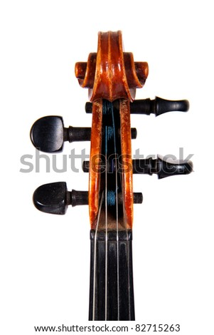 The fingerboard violin, isolated on a white background
