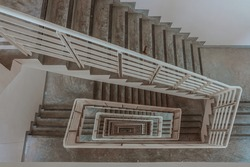The fire escape spiral staircase was designed as a route to evacuate people from tall buildings in the wake of a fire.