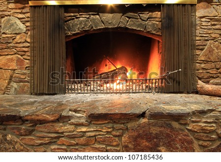 The fireplace, where everyone want to sit behind.