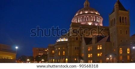 The First Church of Christ Scientist in Christian Science Plaza in Boston