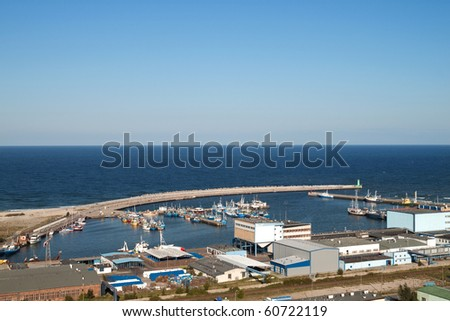 The fisherman port of Wladyslawowo aerial view, Poland
