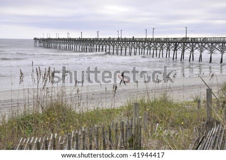 The fishing pier at surf city nc on topsail island just for Surf city fishing pier