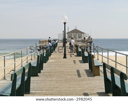 The Fishing pier in historic Ocean Grove New Jersey.