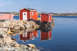The fishing village of Tilting, Fogo Island, Newfoundland and Labrador, Canada