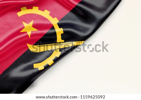 The flag of Angola is a white background and a place for the text #1159625092