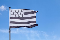 The flag of Brittany is called the Gwenn-ha-du, which means white and black in Breton.