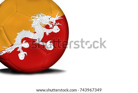 The Flag Of Butane Was Represented On The Ball The Ball Is Isolated