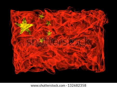 The flag of China consists of a smoke